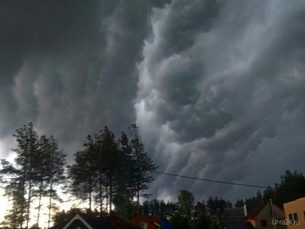 Трубчатые (валовые) облака. Природа Ухты и Коми Ухта