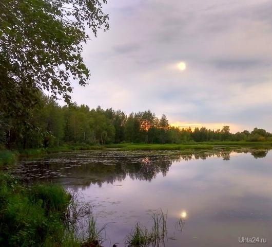 Пасмурный вечер Природа Ухты и Коми Ухта