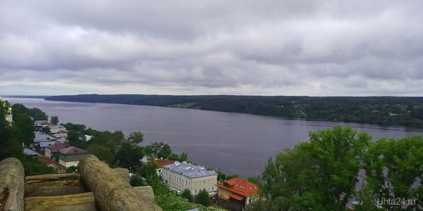 Река Волга в городе Плес.В Плесе, Левитан нарисовал много своих картин Разное Ухта