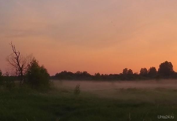 Вечером в поле  Ухта