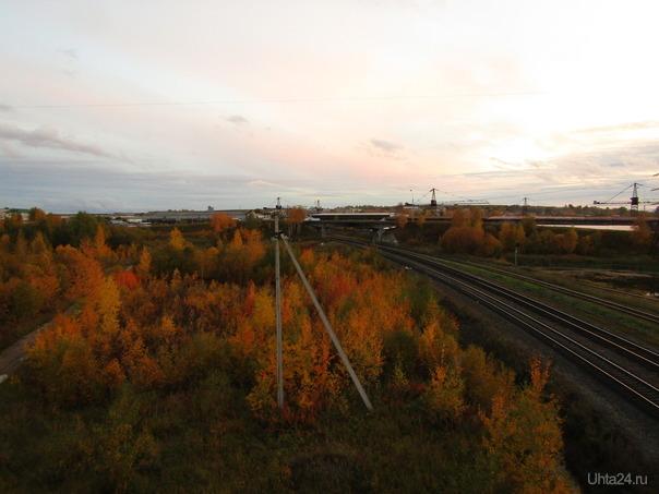 Осенняя железная дорога Разное Ухта