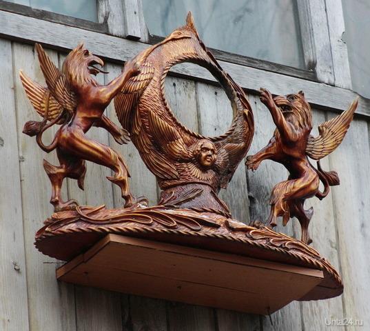 Герб на балконе. Творчество, хобби Ухта