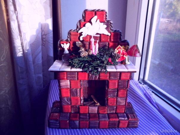 """Новогодняя поделка камин с подсветкой.Веточки стабилизированы(спасибо """"Лиатрису""""), прям пахнут Новым годом! Творчество, хобби Ухта"""