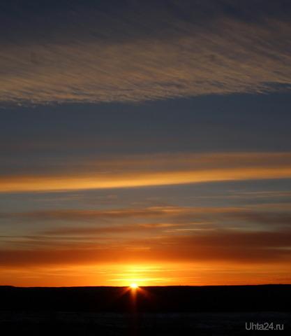 Закат 08.11.18 Природа Ухты и Коми Ухта
