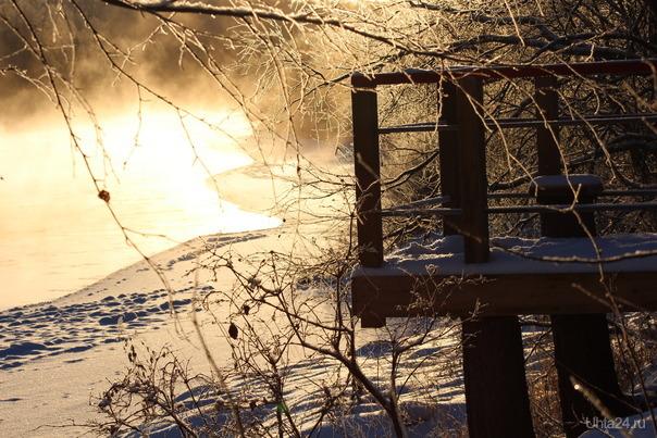 Морозное утро Природа Ухты и Коми Ухта