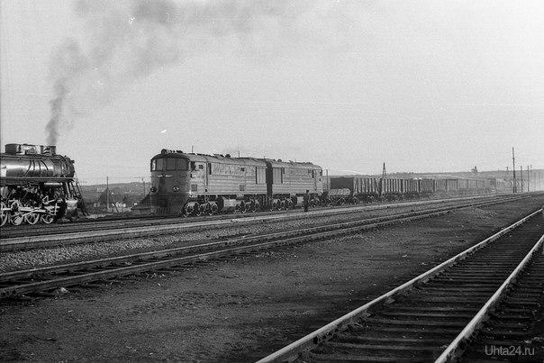 Станция Ухта. 1965 г, Тепловоз ТЭ3-5543. Автор фото: Павшуков Федор Елисеевич  Ухта
