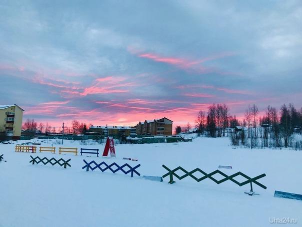 Рассвет на лыжной базе УРМЗ  Ухта