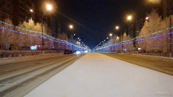 Вечерняя прогулка по зимнему городу.  Ухта