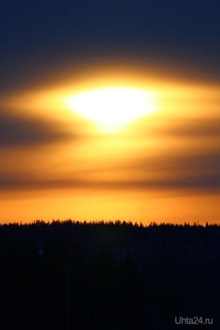 Восход солнца на Зерюнова Природа Ухты и Коми Ухта