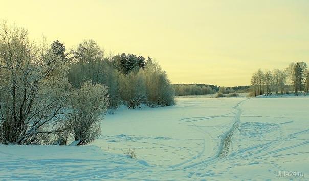 Зимний пейзаж (за Сыктывкаром) Природа Ухты и Коми Ухта