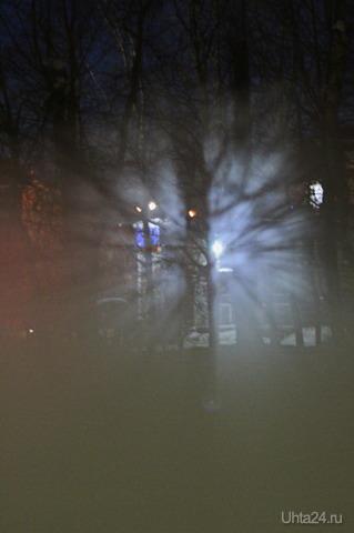 Туман над речкой возле стоматологии Природа Ухты и Коми Ухта