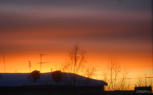 Вчерашний закат солнца  Ухта