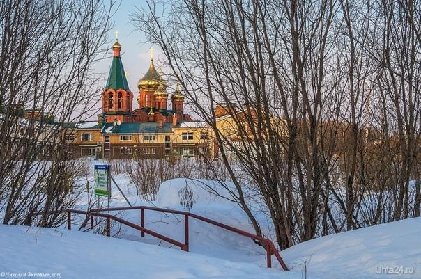 Снежный апрель... Улицы города Ухта