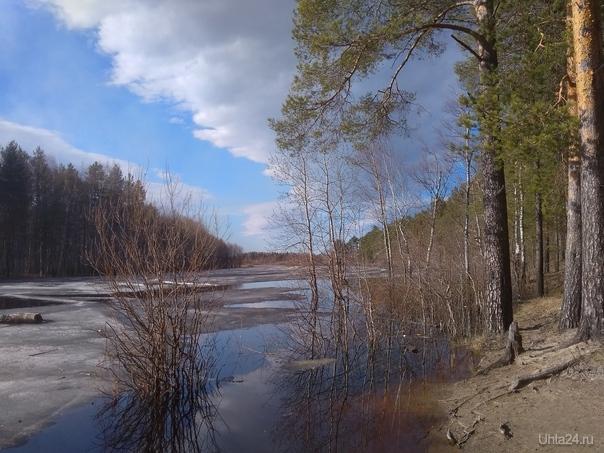 Весенний пейзаж Природа Ухты и Коми Ухта
