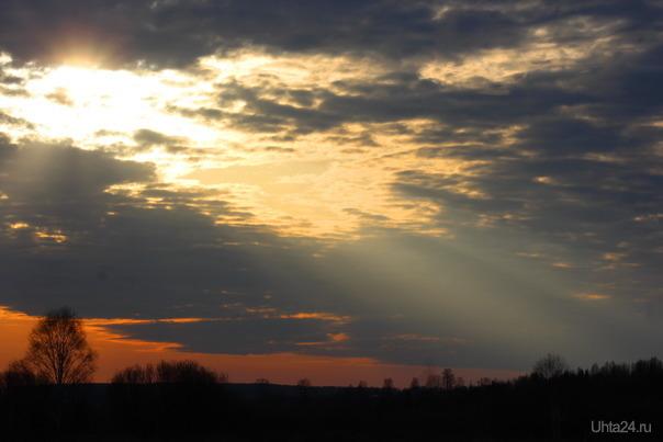 восход солнца Природа Ухты и Коми Ухта