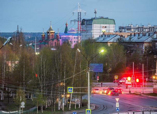 Ухтинские белые ночи... Улицы города Ухта