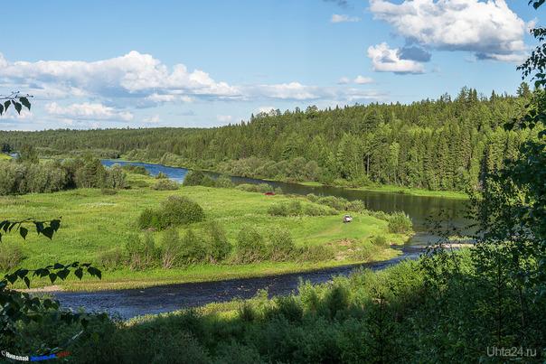 Устье реки Чуть при впадении её в Ухту. Природа Ухты и Коми Ухта