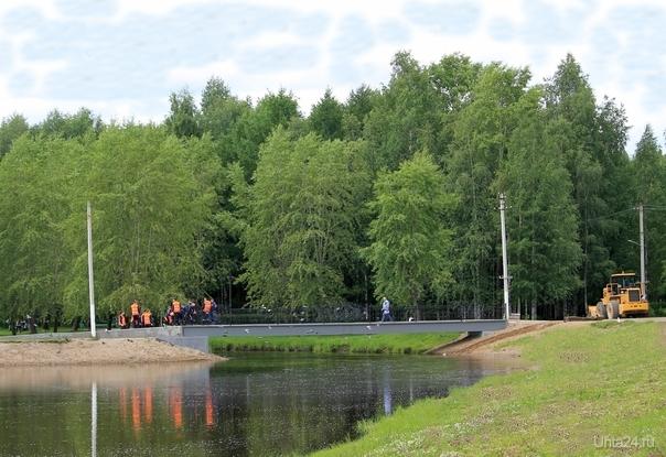 Вид на новый мост Улицы города Ухта