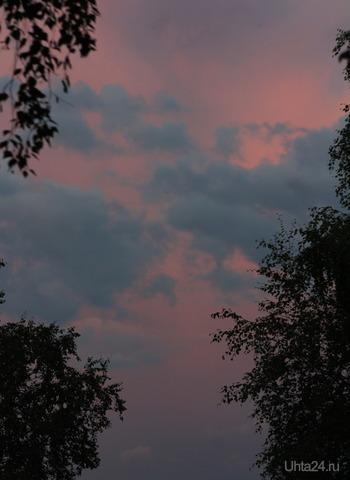 Небо перед грозой Природа Ухты и Коми Ухта