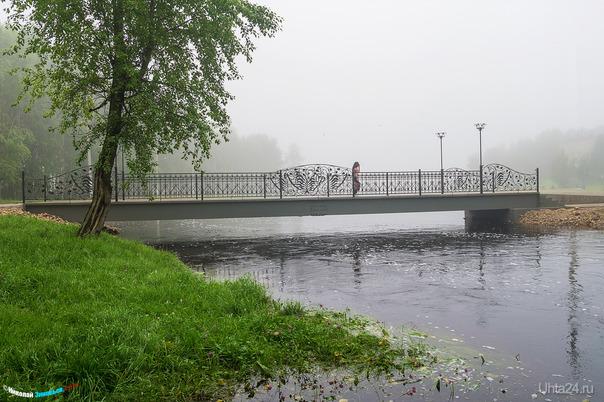 В парке ранним утром  Ухта