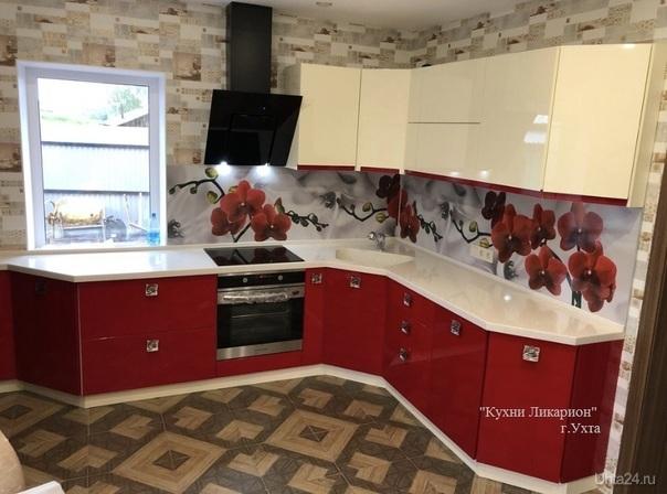 Кухонный гарнитур, фасады МДФ в эмали , столешница ИК с интегрированной мойкой в подарок. КУХНИ НА ЗАКАЗ, КУХНИ ЛИКАРИОН Ухта