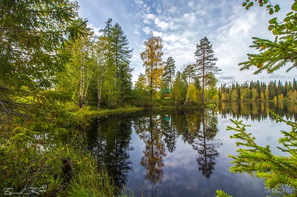 Большое Параськино озеро, вот и осень подкралась незаметно Природа Ухты и Коми Ухта