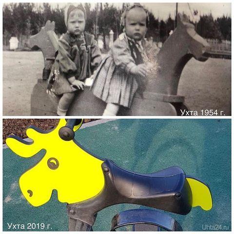 Тогда и сейчас. Детский парк и набережная Газовиков https://www.instagram.com/naberejnayagazovikov/ История Ухта