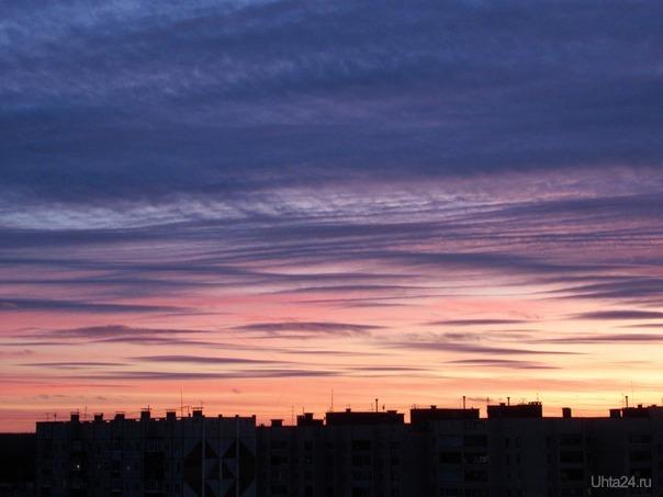 Дивный сентябрьский вечер. Закат. Природа Ухты и Коми Ухта