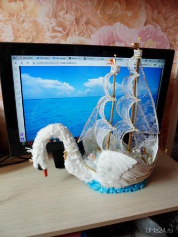 Корабль с конфетами изготовлен для девчушки ко дню рождения. Творчество, хобби Ухта