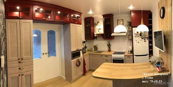 Кухонный гарнитур: Фасады с плоской филенкой Бетта, Столешница Slotex. КУХНИ НА ЗАКАЗ, КУХНИ ЛИКАРИОН Ухта