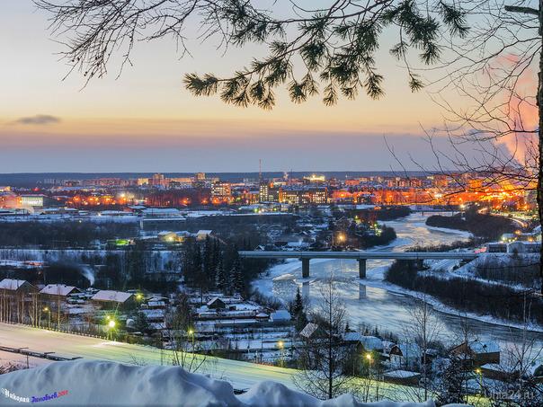 Зима... просто зима... Улицы города Ухта