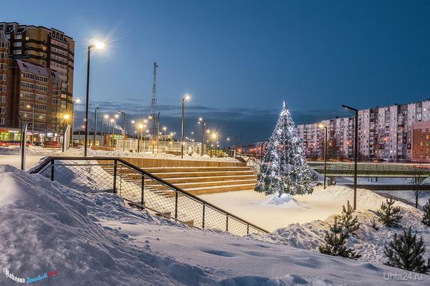 Новогодняя Набережная Улицы города Ухта