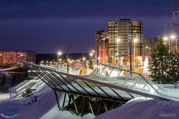 Обновлённая Набережная Газовиков выдерживает первую зиму достойно, все дорожки и консольные площадки почищены.  Ухта