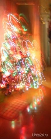С наступающим старым Новым годом! Сфоткала свою елочку, и получилась вот такая космическая елочка. Новый год Ухта