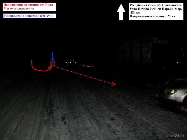 В ДТП на 284 км автодороги Сыктывкар - Ухта погибла девушка  Ухта