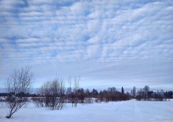 Слоисто-кучевые облака Природа Ухты и Коми Ухта