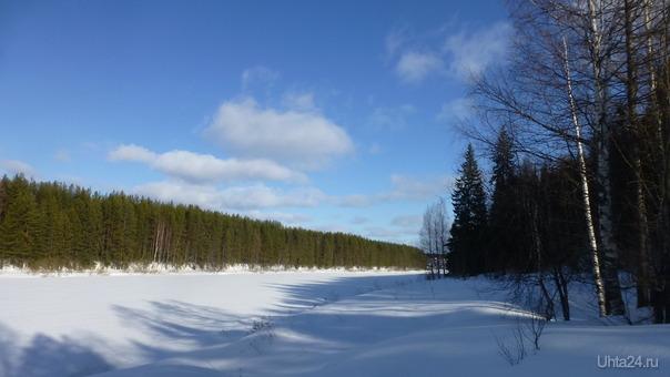 Такая погодка была вчера. Можно сказать, весенне-снежная! Природа Ухты и Коми Ухта