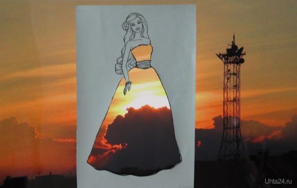 Как прекрасна девушка в платье багряного цвета.😊 Разное Ухта
