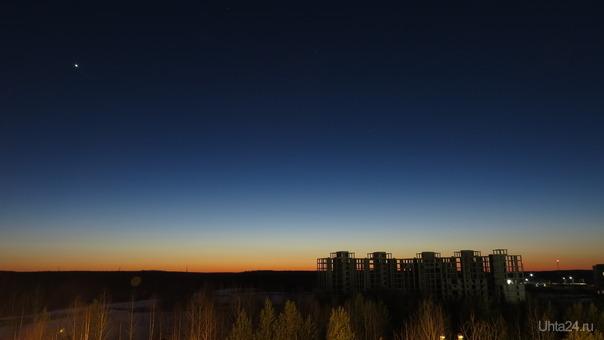 Вечернее небо. Природа Ухты и Коми Ухта