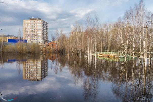 Потоп на Почтовой Улицы города Ухта