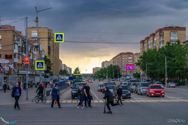В ожидании дождика Улицы города Ухта