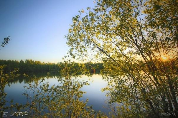 тихий летний вечер Природа Ухты и Коми Ухта