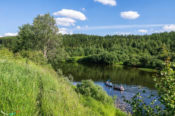 На Ухте тоже воскресный лодочный сезон, недолговечные жаркие и солнечные дни редко совпадают с выходными :) Природа Ухты и Коми Ухта