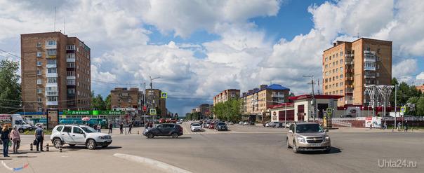 Панорама проспекта Ленина, тучи были серьёзные, а дождик как пыль) Улицы города Ухта