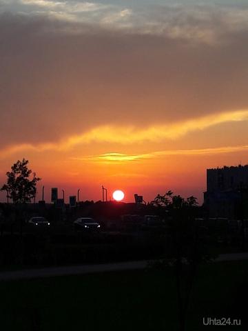Какие все-таки у нас очаровательные закаты! Улицы города Ухта