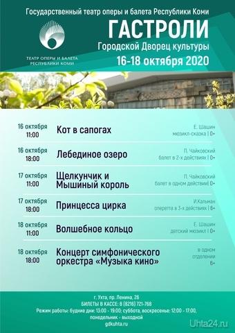 Гастроли Театра оперы и балета Республики Коми в Ухте Мероприятия Ухта