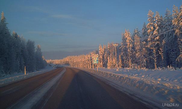 Где-то в 300 км к северу от Хельсинки. Прошло всего несколько часов после снегопада Разное Ухта