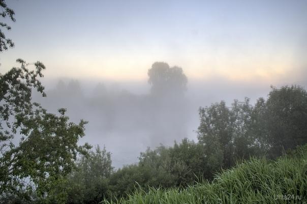 Туман над рекой Природа Ухты и Коми Ухта