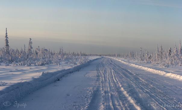 Зимник на Захарвань. (-40°) Природа Ухты и Коми Ухта