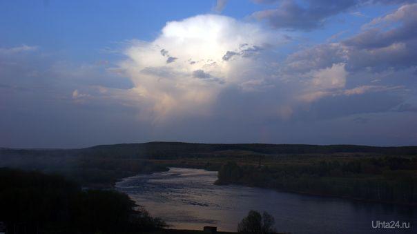 Тихий вечер над рекой Природа Ухты и Коми Ухта